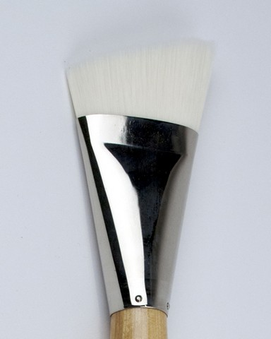 Silver Jumbo Stiff White Synthetic Brushes