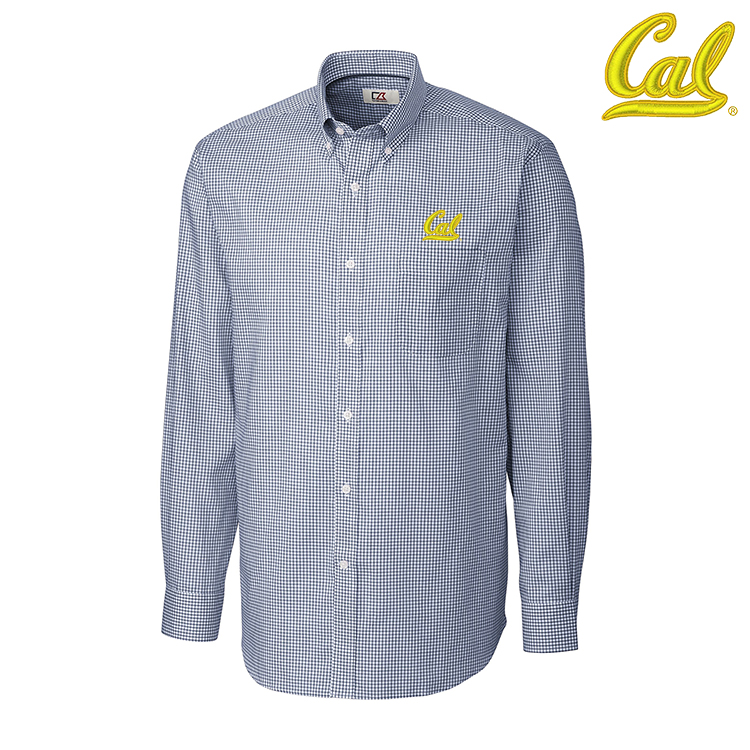 University of California Berkeley L/S Epic Easy Care Tattersall by Cutter and Buck