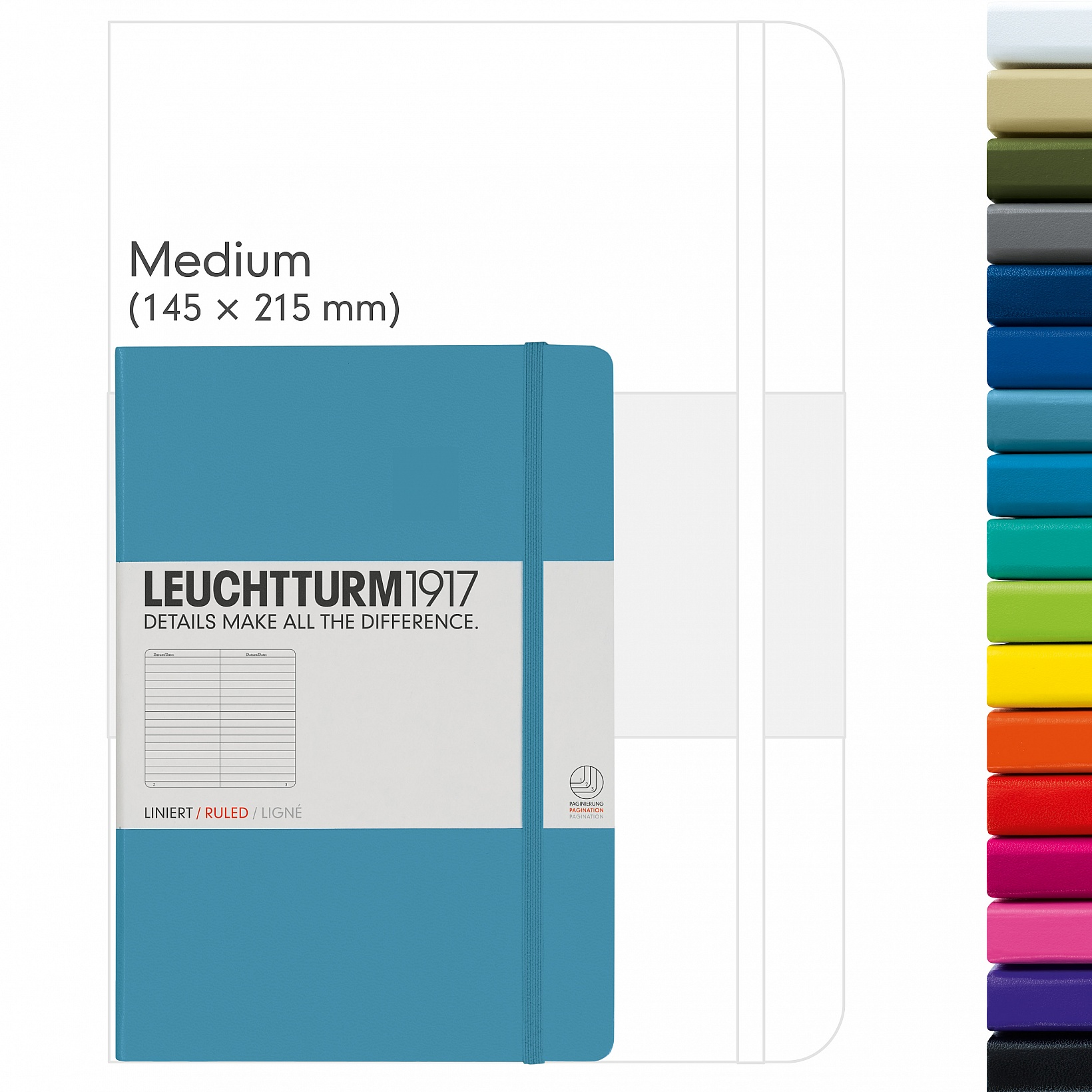 Notebooks Medium (A5), 249 pages, with classic Hardcover