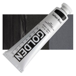 Golden Heavy Body Acrylic - Carbon Black - 2 oz.