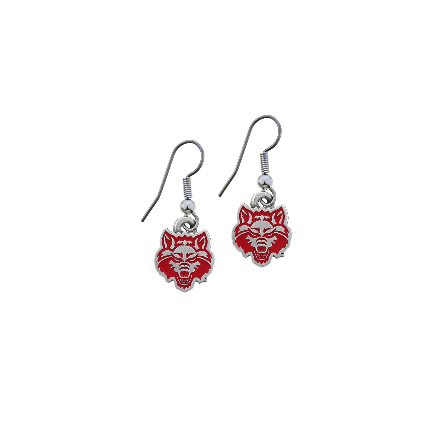Red Wolves Earring Set