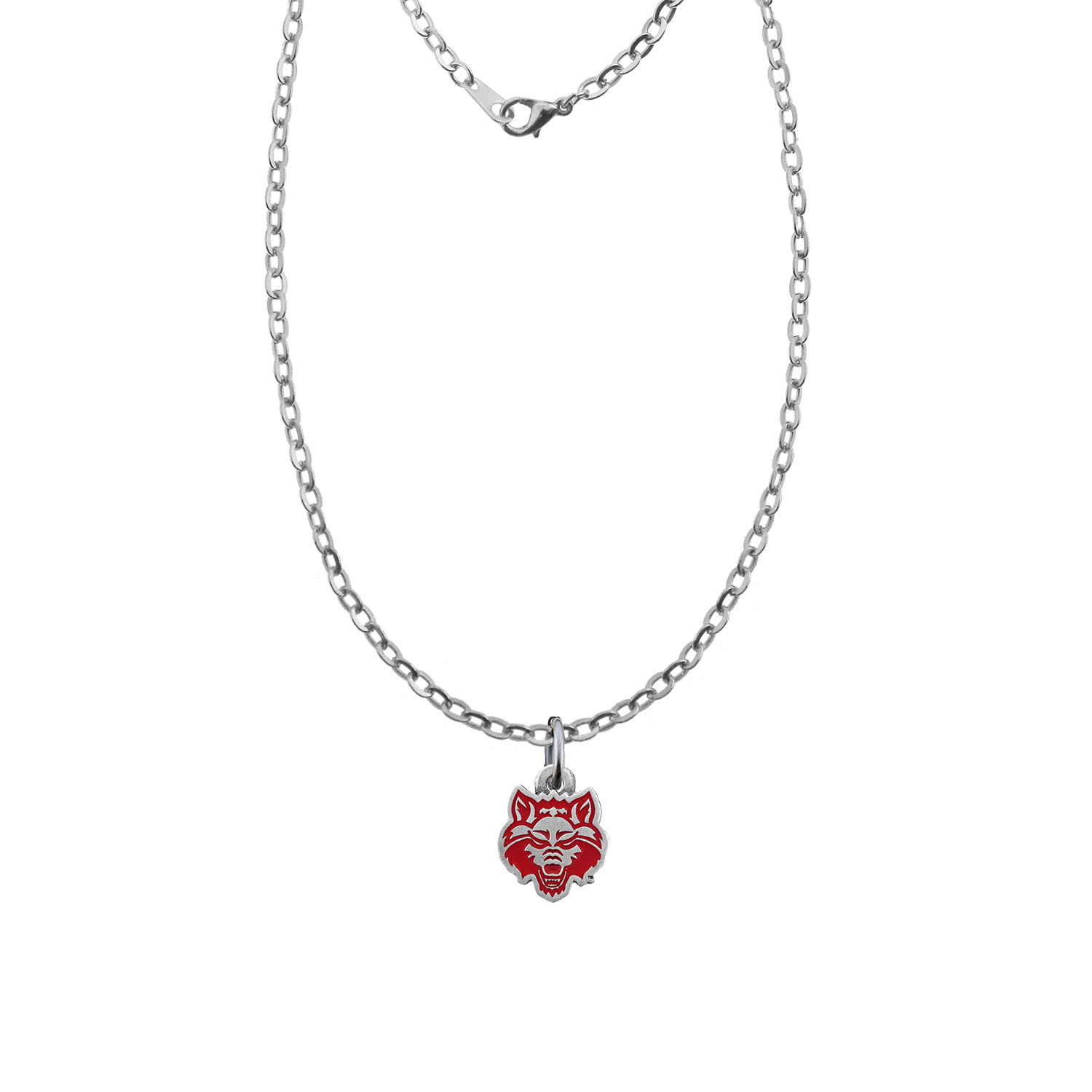 Red Wolves Charm Necklace