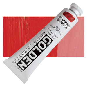 Golden Heavy Body Acrylic - Cadmium Red Medium - 2 oz.