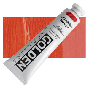 Golden Heavy Body Acrylic - Cadmium Red Light - 2 oz.