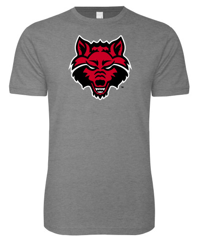 Red Wolves Basic Cotton T Shirt