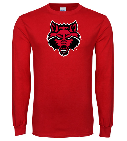 Red Wolves L/S Basic Cotton T Shirt