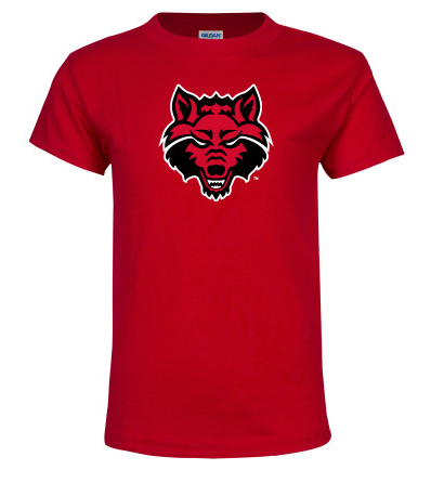 Red Wolves Basic Cotton Youth T Shirt
