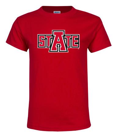 Arkansas State Basic Cotton Youth T Shirt
