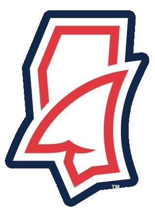 Fins Up State Outline Sticker Red