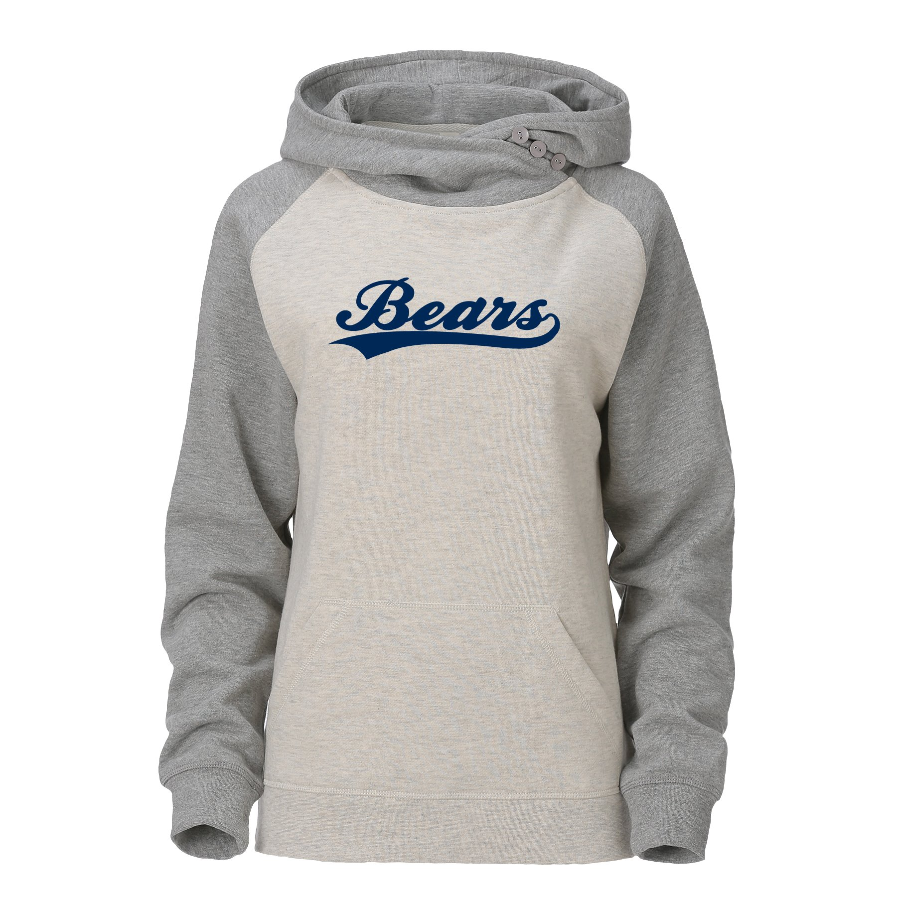 Women's Bears Fold Over Hoodie