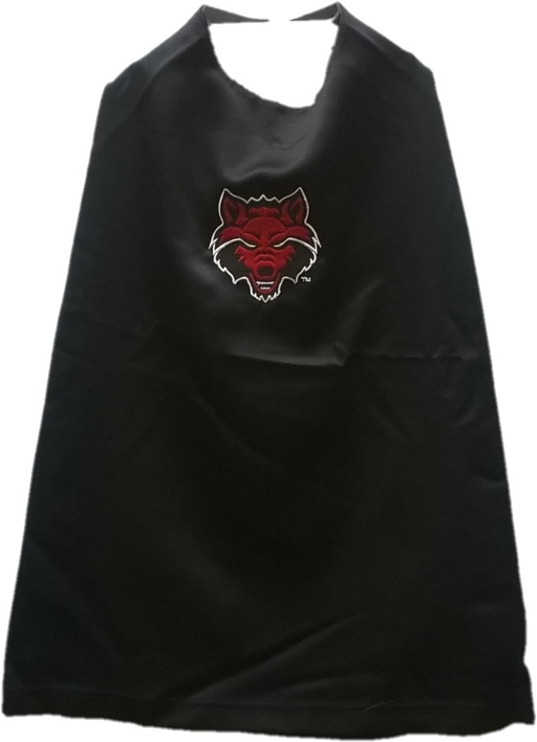 Red Wolves Toddler Cape