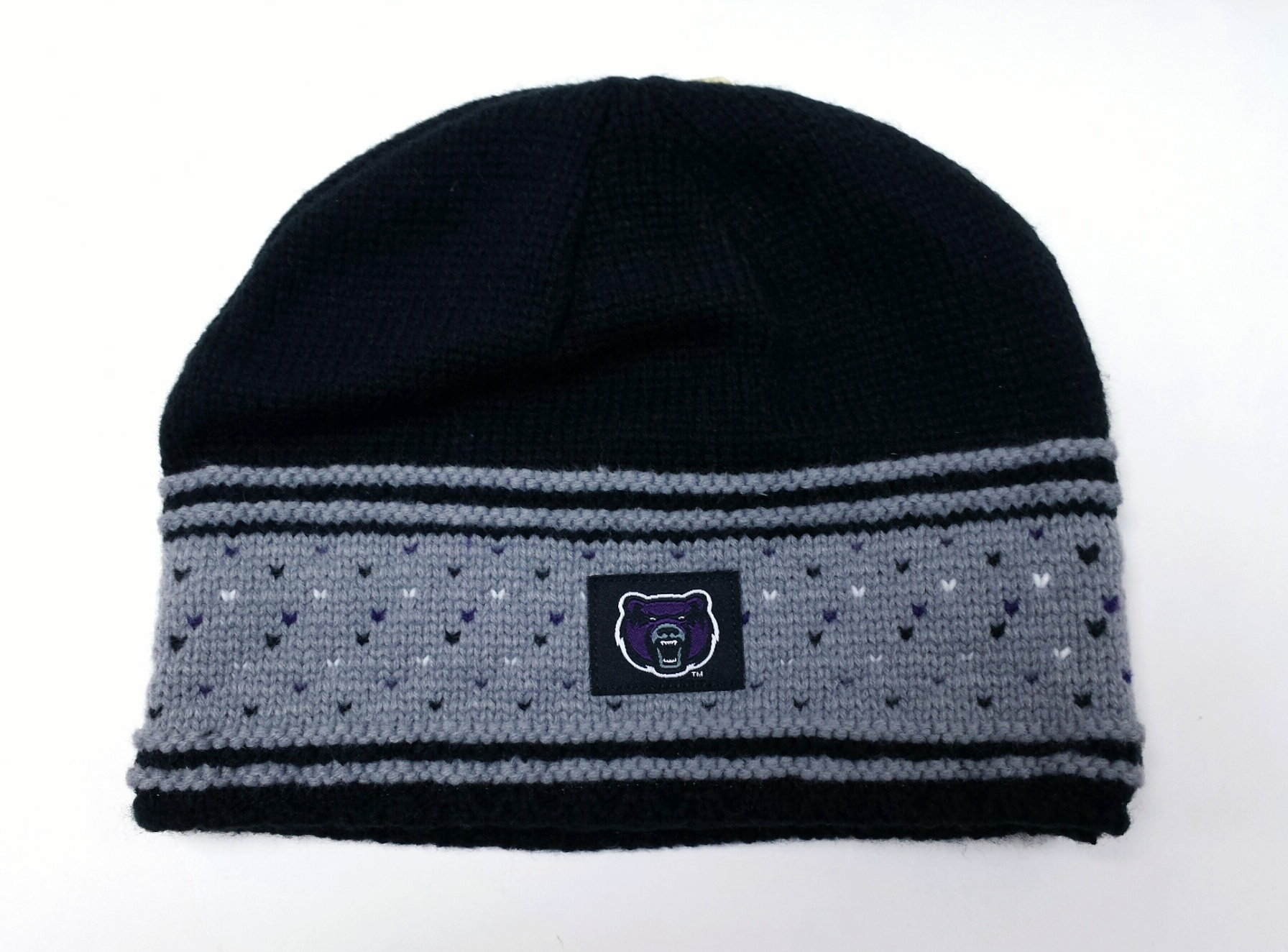 Black and Grey Bear Beanie