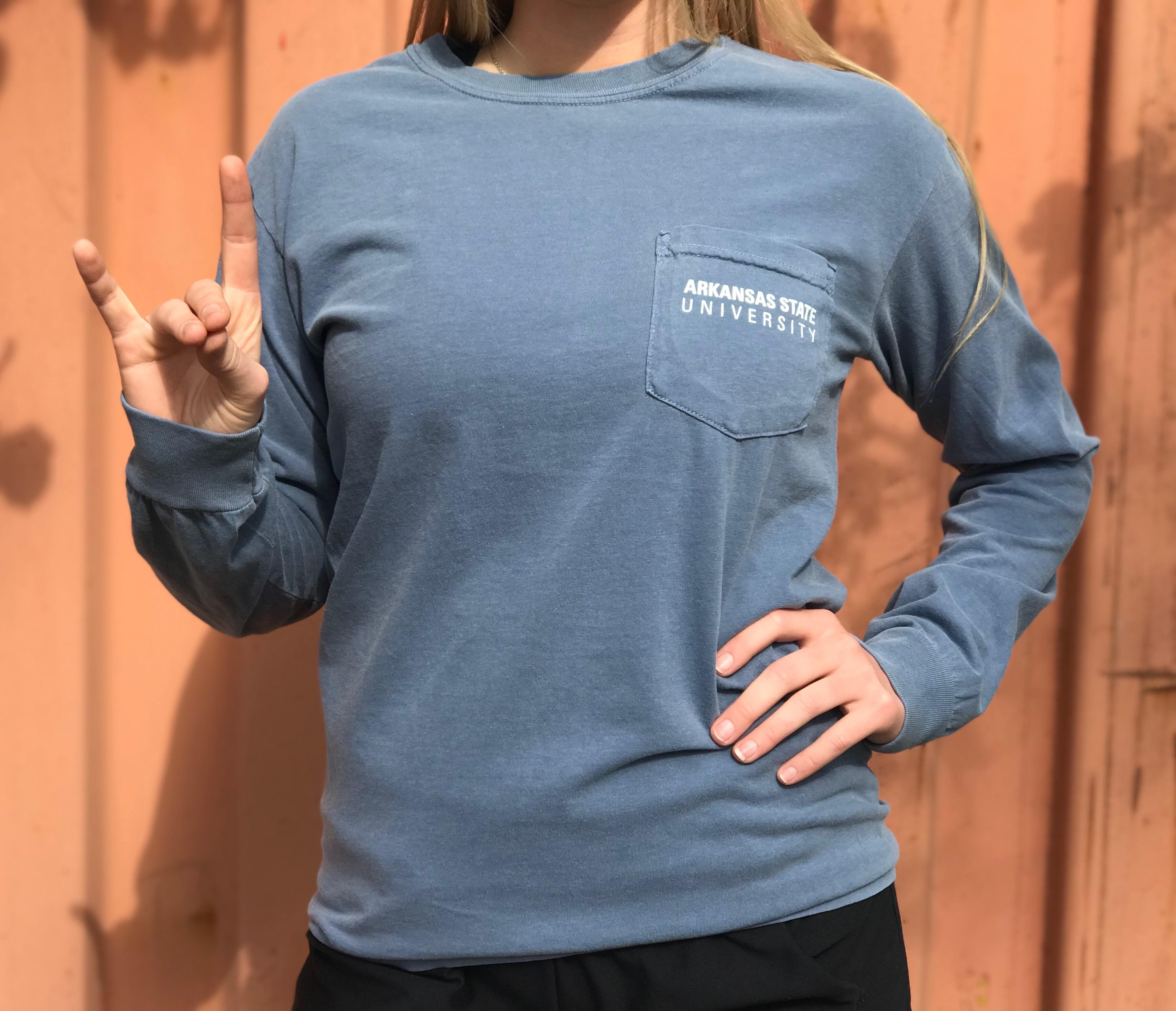 Arkansas State University L/S Comfot Color T Shirt