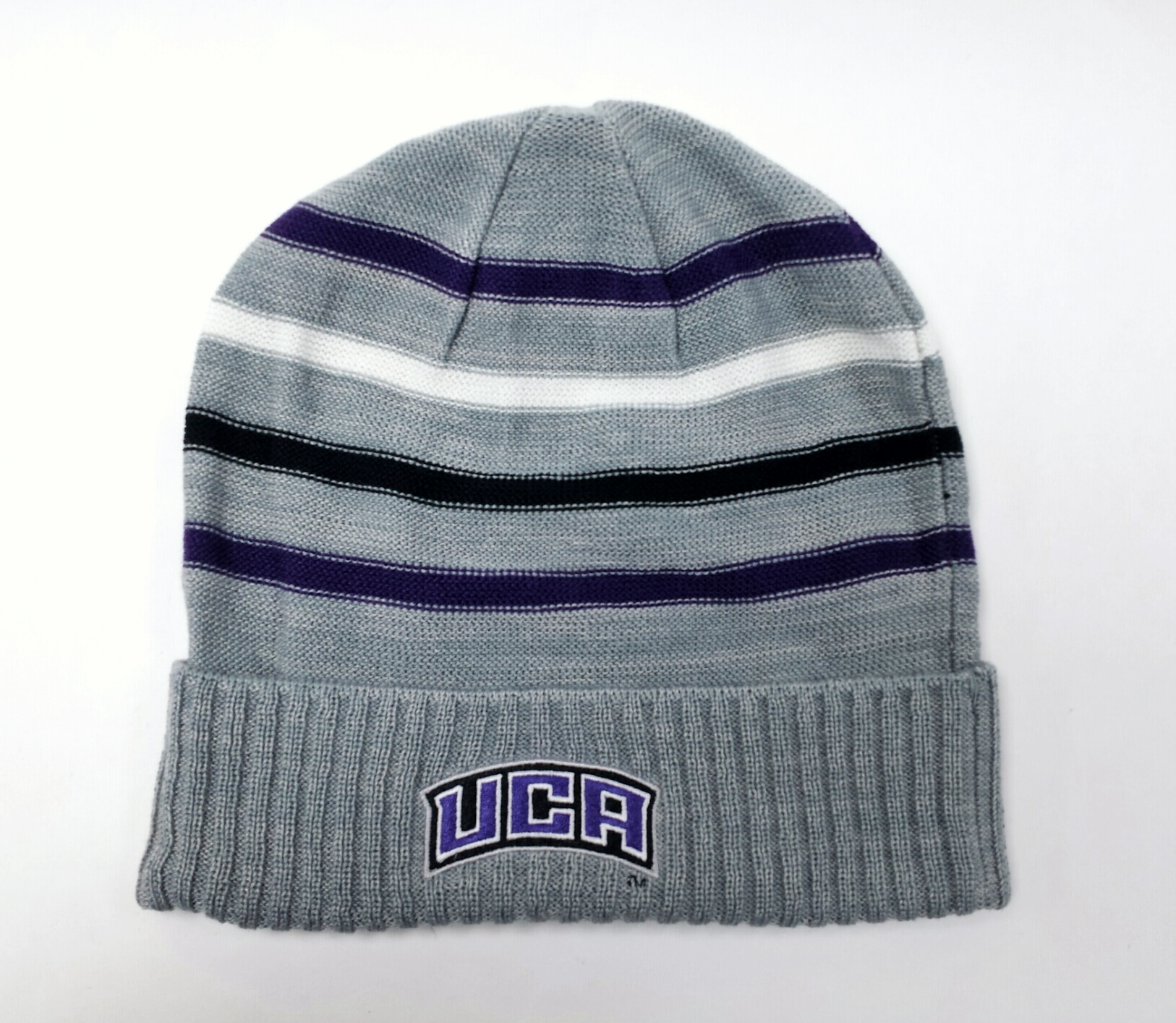Light Grey Striped Beanie
