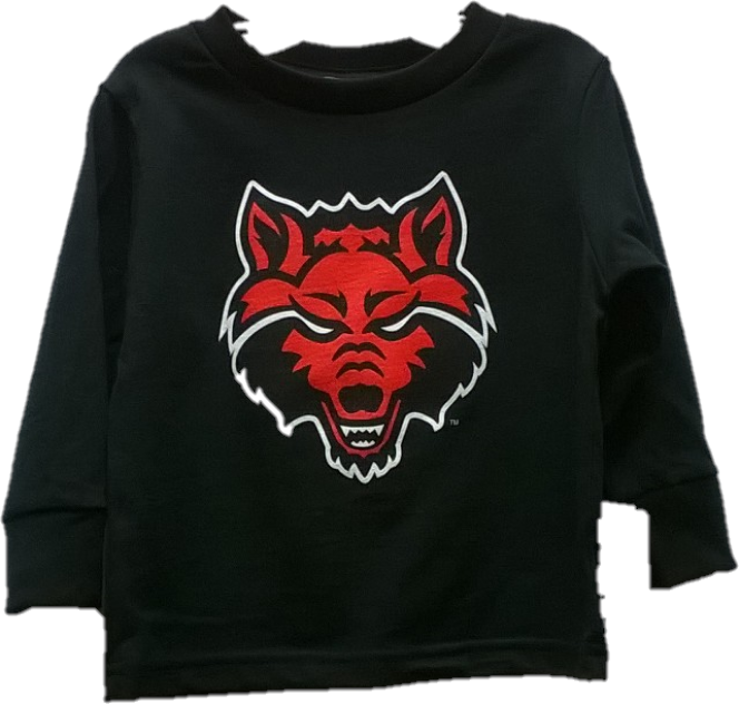 Red Wolves Toddler L/S T Shirt