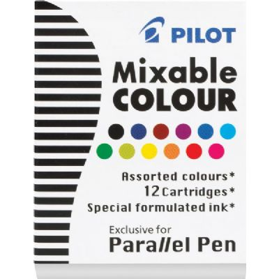 Mixable Parallel Pen Refil Ink 12-Pack Assorted Color