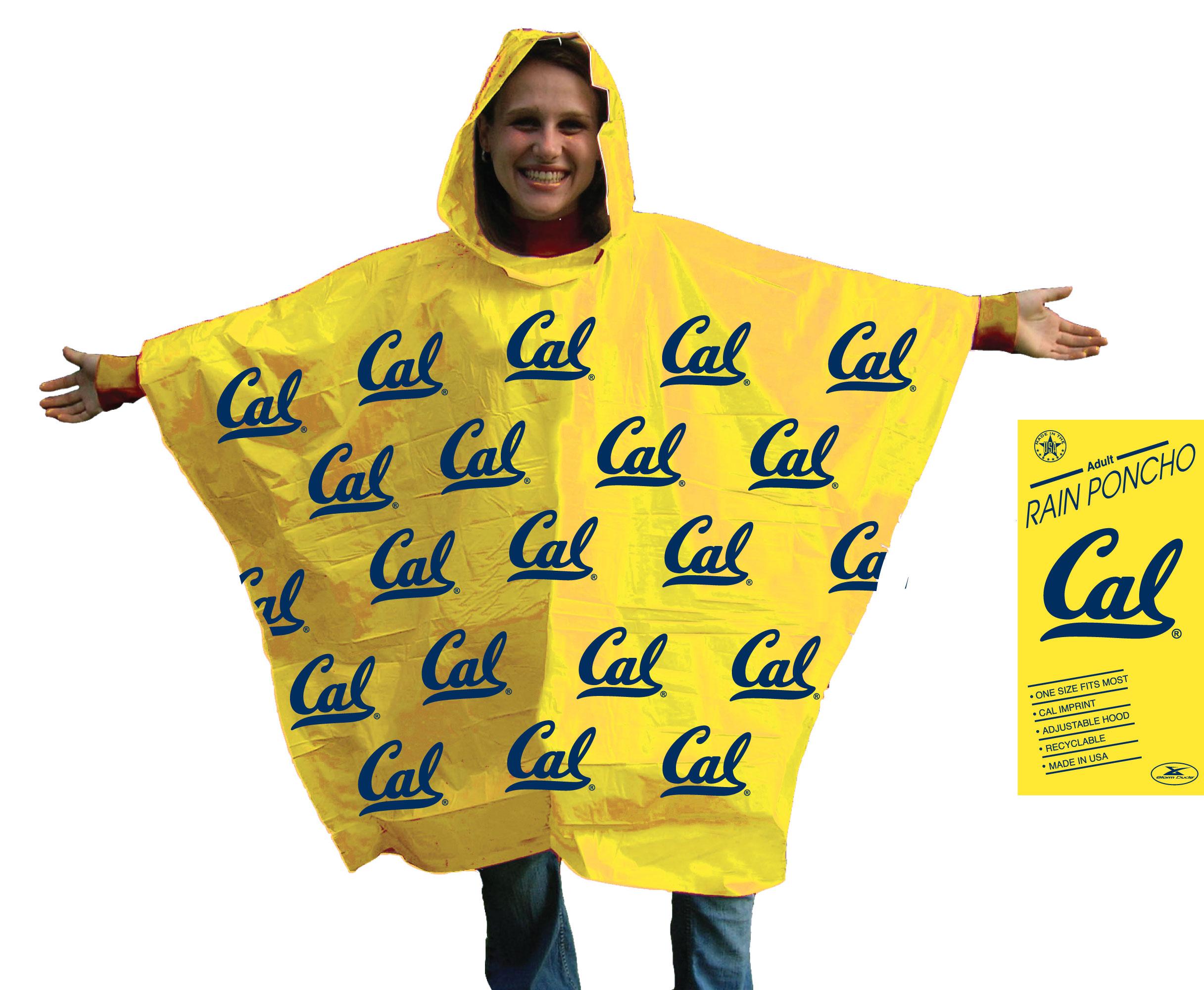Cal Bears Lightweight  Rain Poncho
