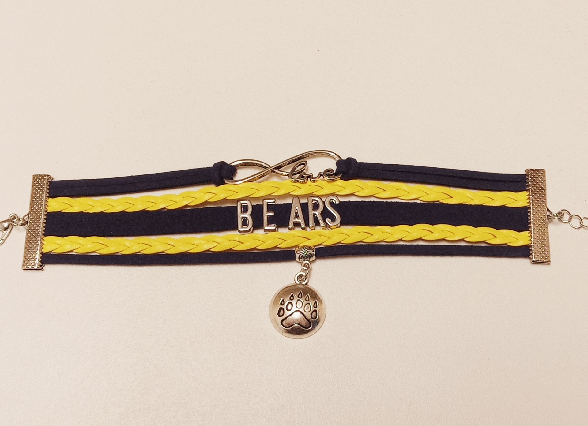 School Spirit Bracelet with Charm