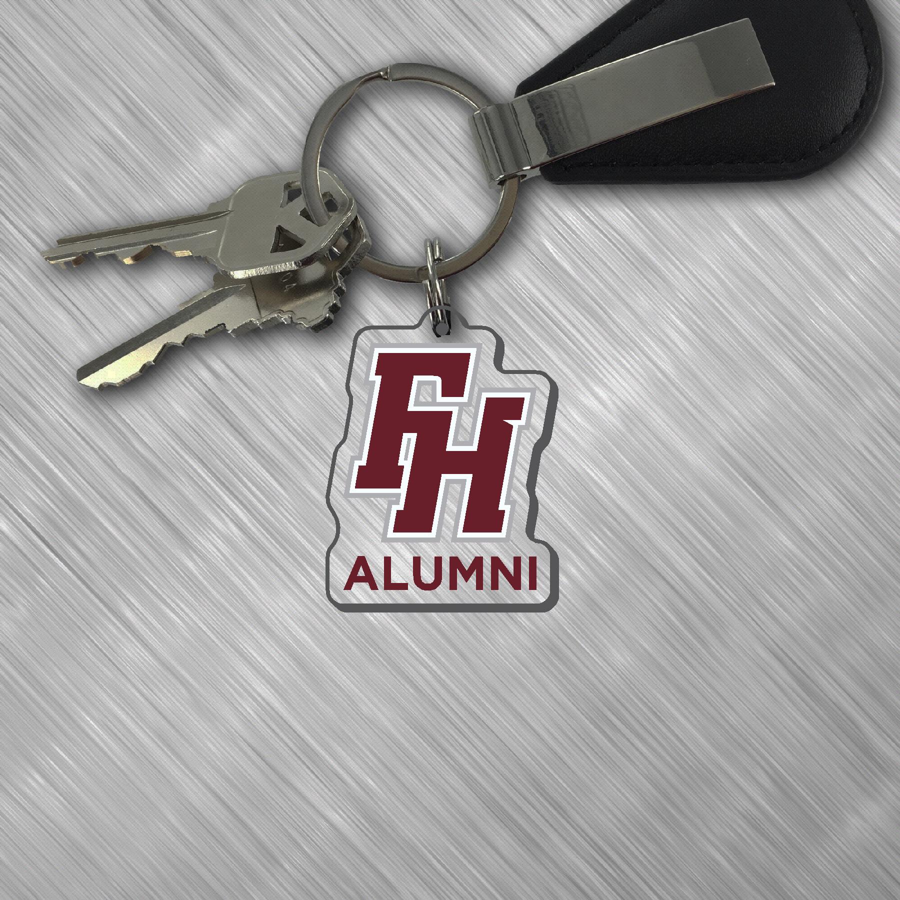 """""""FH Alumni"""" Acrylic Keychain"""