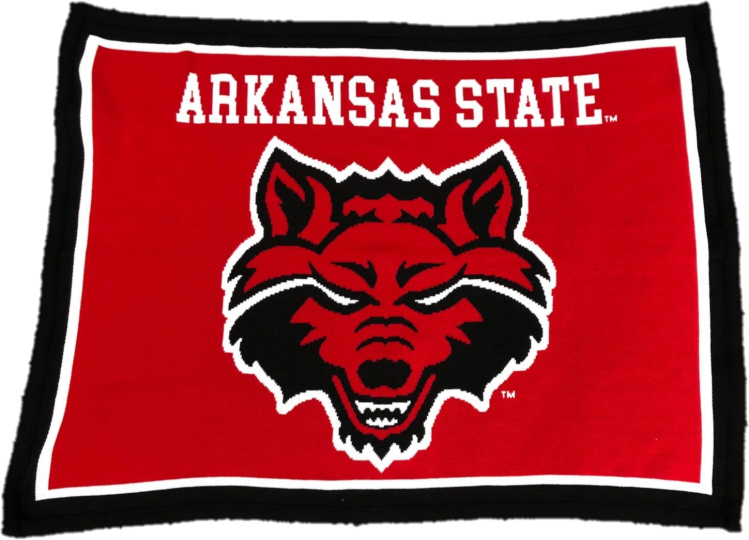 "Red Wolves Knit Blanket 63""x53"""