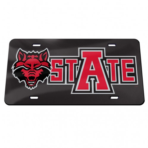 Arkansas State Red Wolves Mirrored Plate