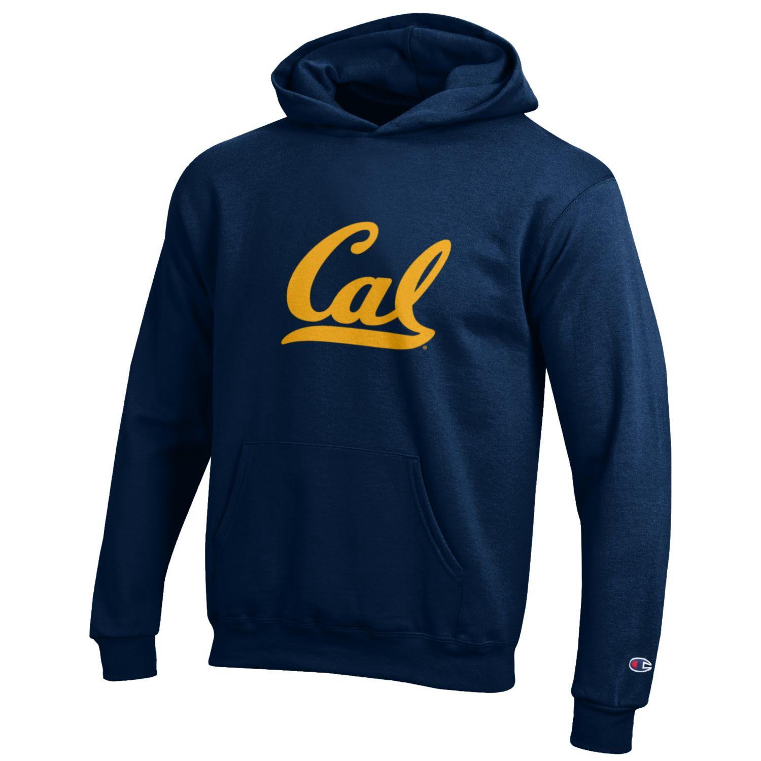 Champion Youth Powerblend Pullover Hood Cal Logo