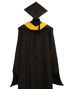 Master's Cap, Gown, Tassel and Hood