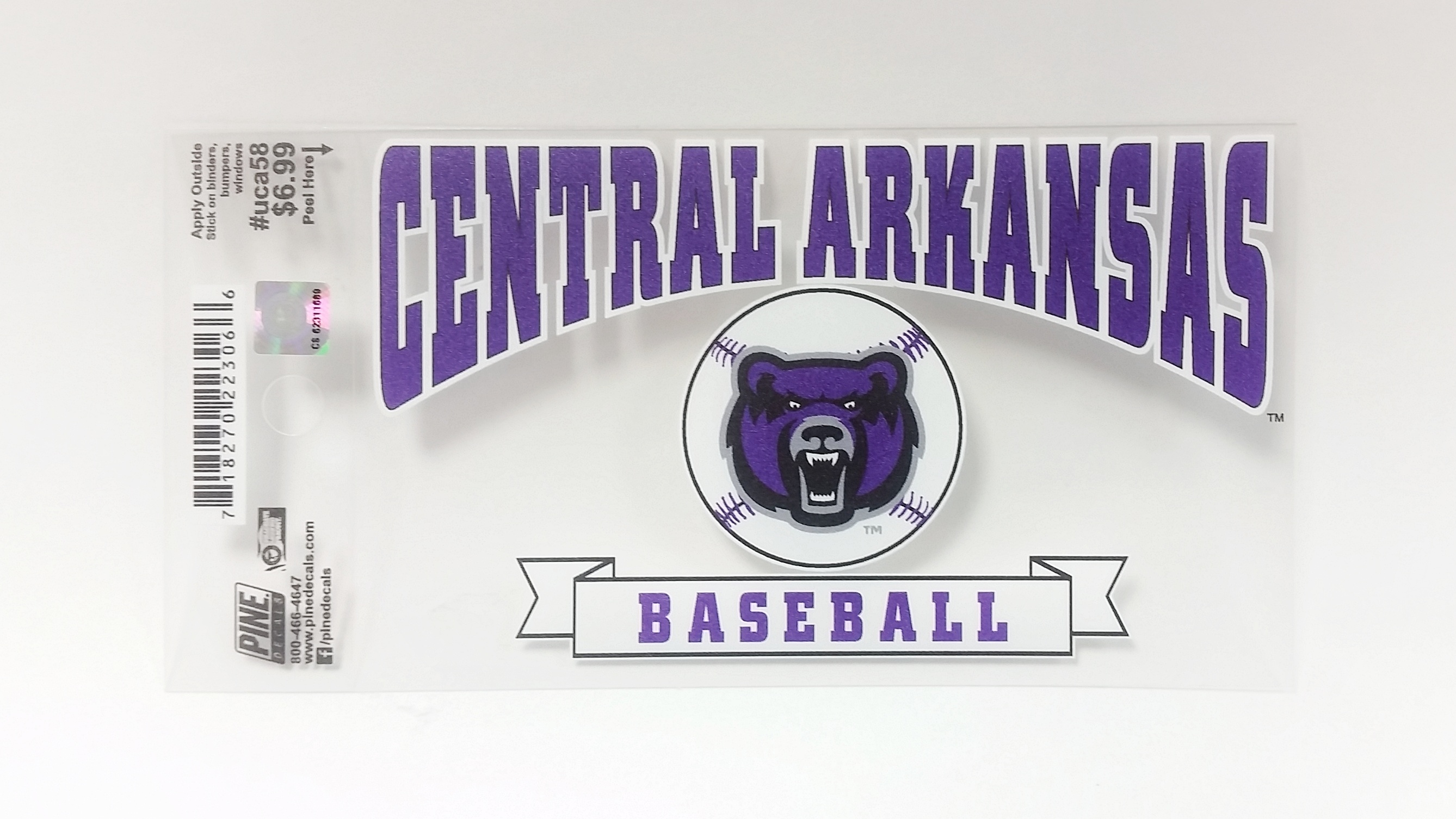 "3""x5"" Central Arkansas Baseball Decal"