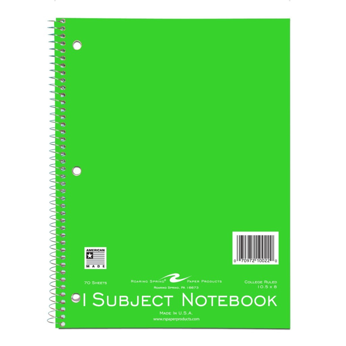 College Ruled 1 Subject Notebooks