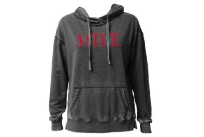 A-State Vintage Washed Hooded Sweatshirt