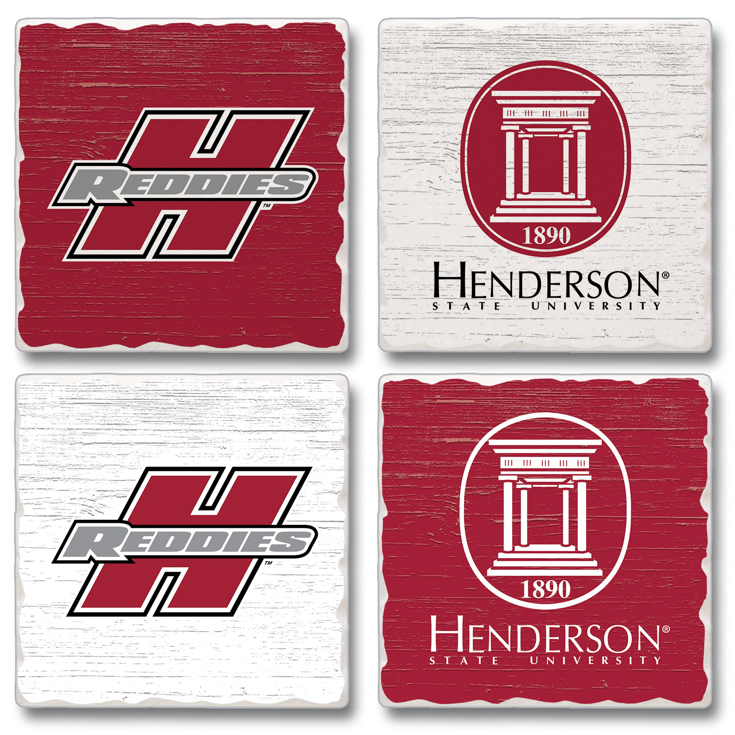 SET OF 4 REDDIE COASTER