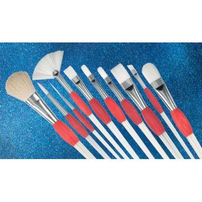 6550 Sliding Grip White Synthetic Brushes