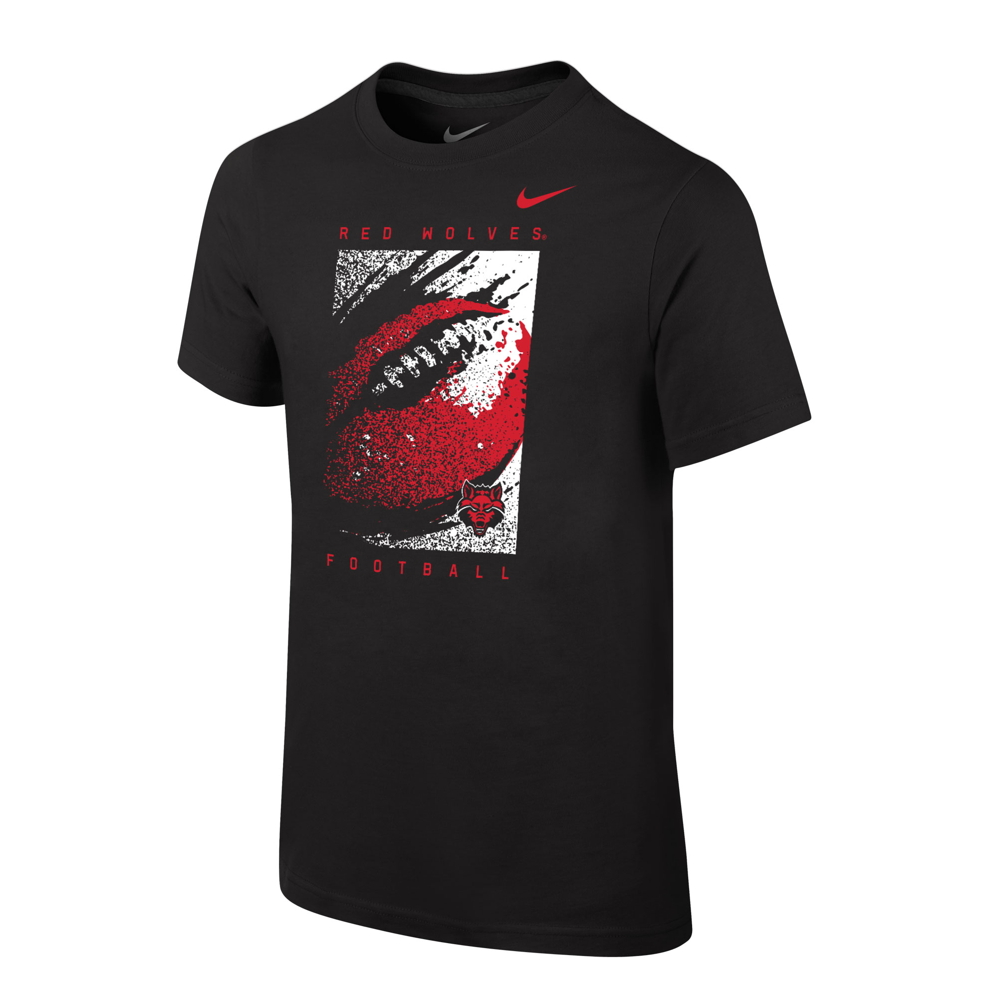 Red Wolves Football Youth Core SS Tee