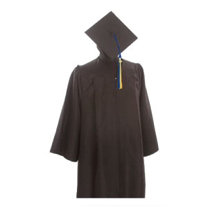 Bachelor Keeper Gown, Cap and Tassel