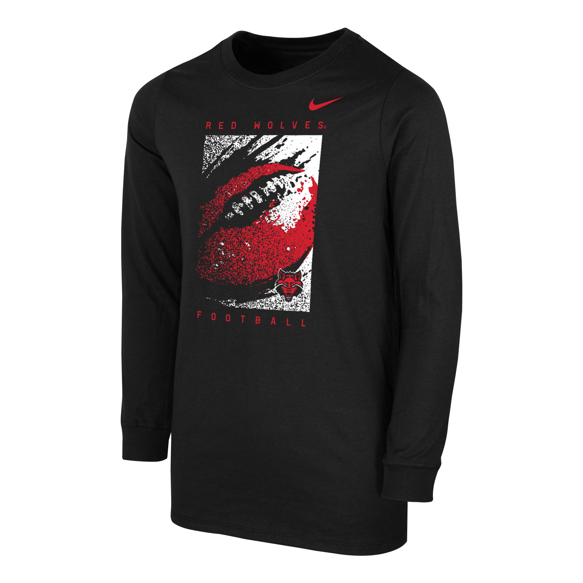 Red Wolves Football Youth Core LS Tee