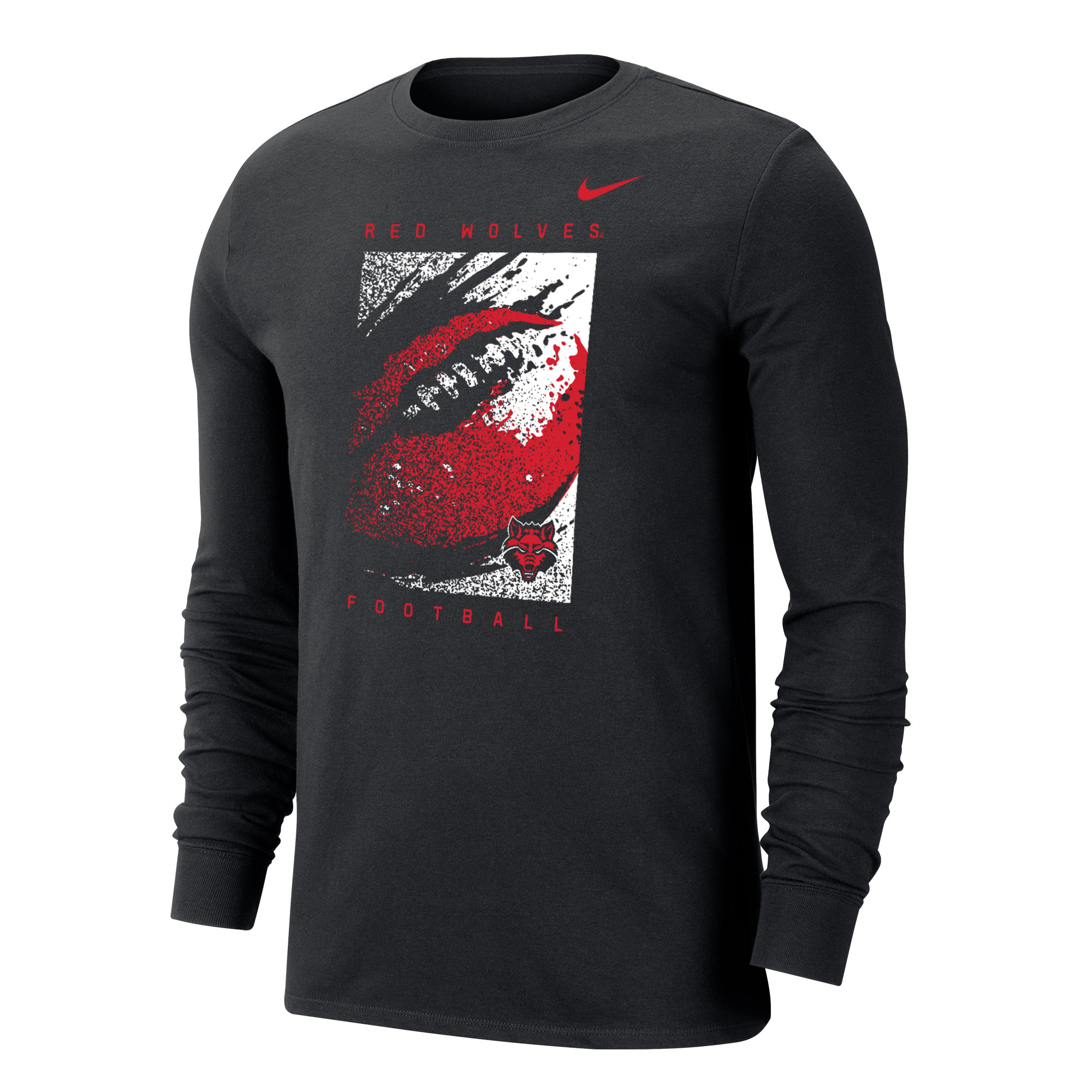Arkansas State Football Dri-FIT Cotton LS Tee
