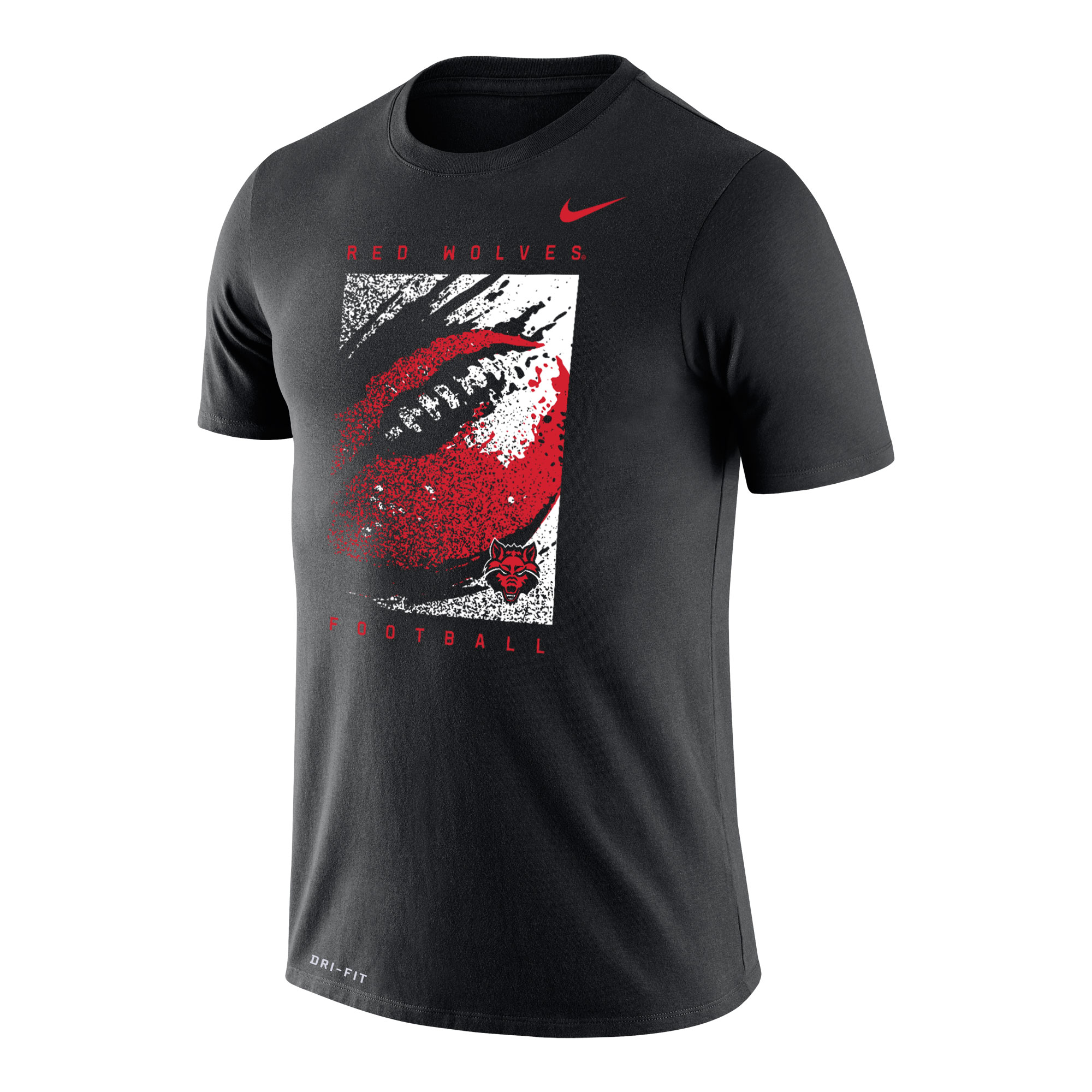 Red Wolves Football Dri-FIT Cotton SS Tee