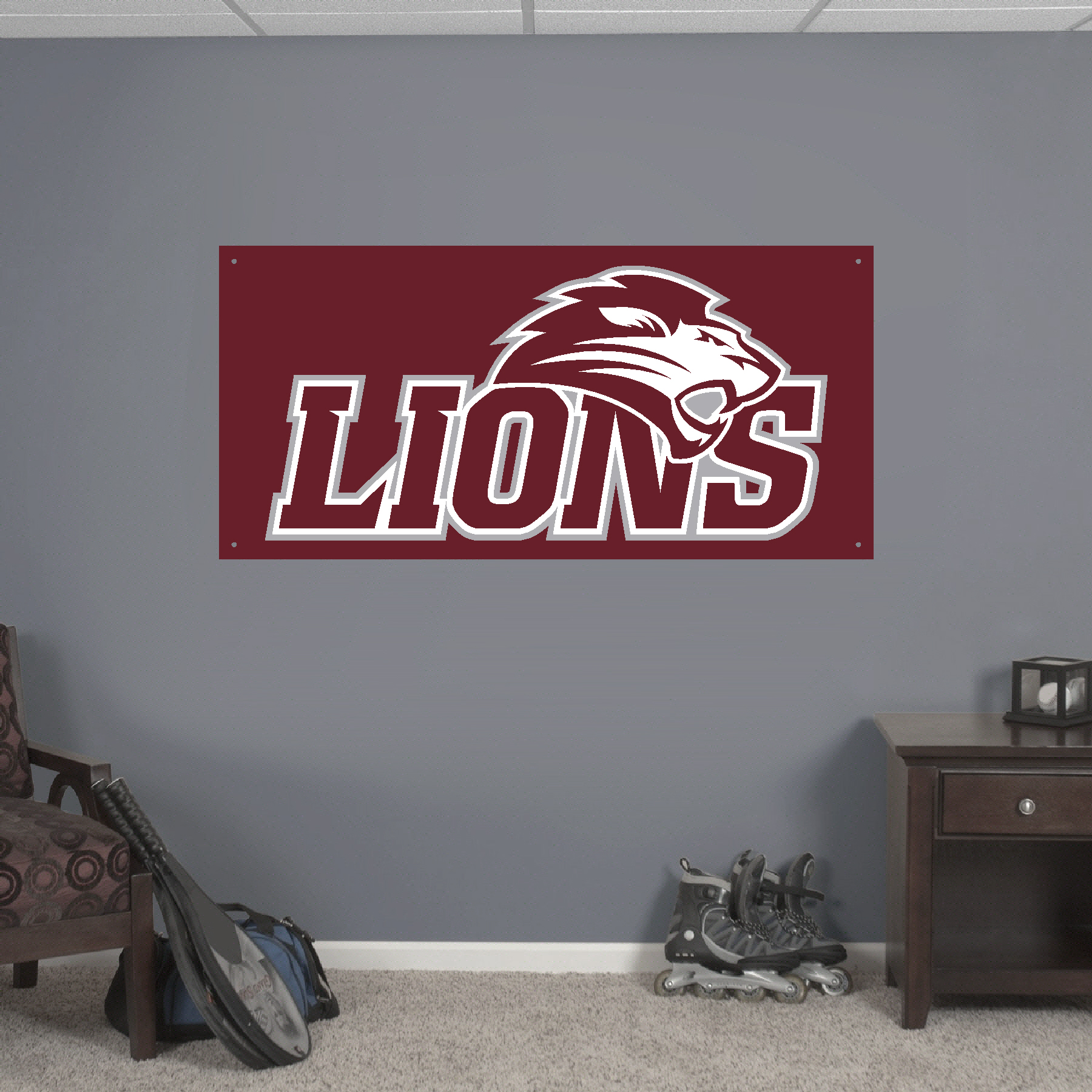 2x4' FHU Lions Game Time Banner