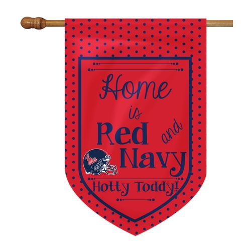 House Flag Home Is Red and Navy