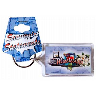 Mississippi Elements Lucite Keychain