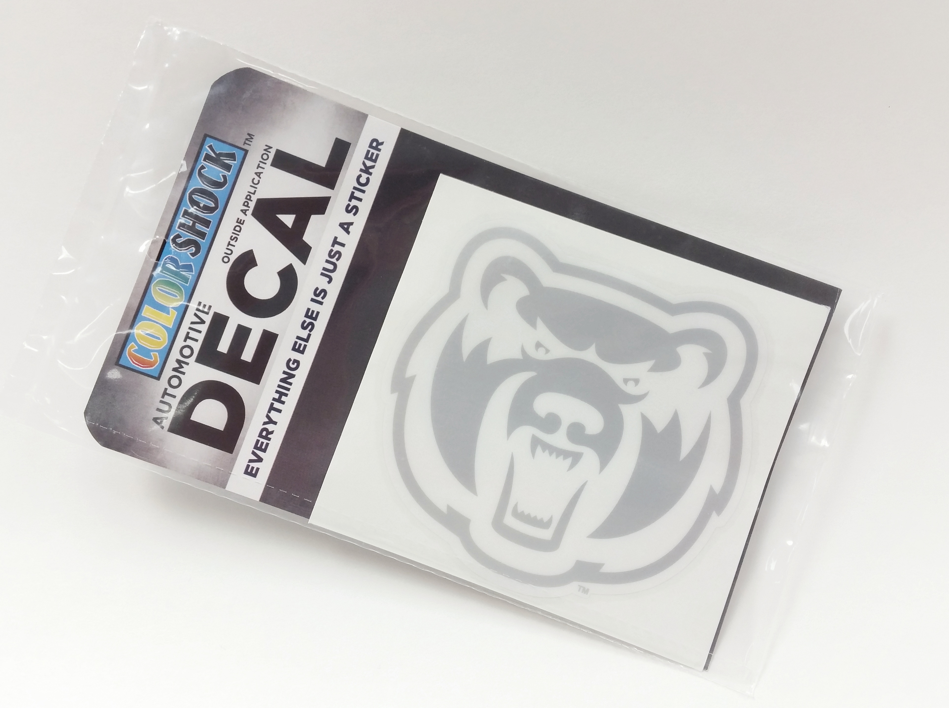 Etched Glass Bearhead Decal