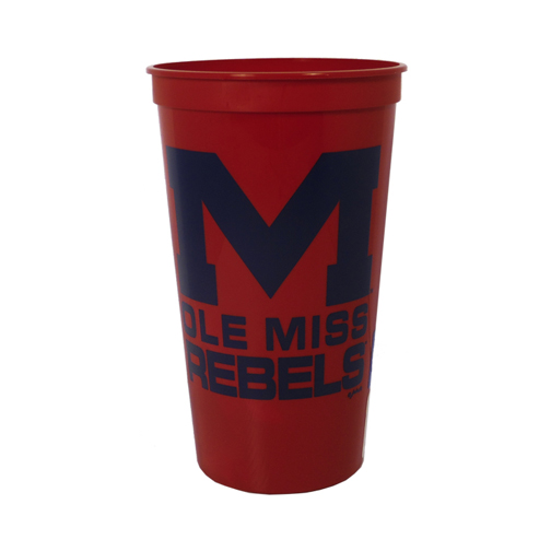 Red Plastic Stadium Cup 32oz