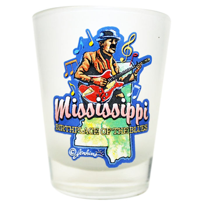 Birthplace of the Blues Frosted Shot Glass