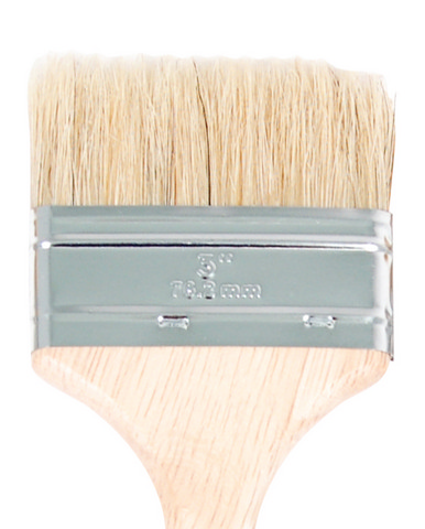 White Chip Brush 3in
