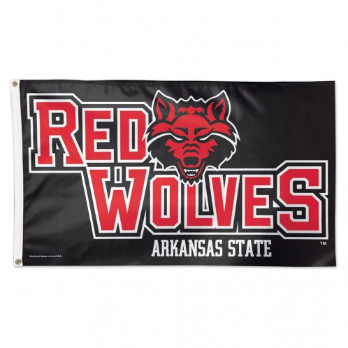Red Wolves 3'x5' Flag