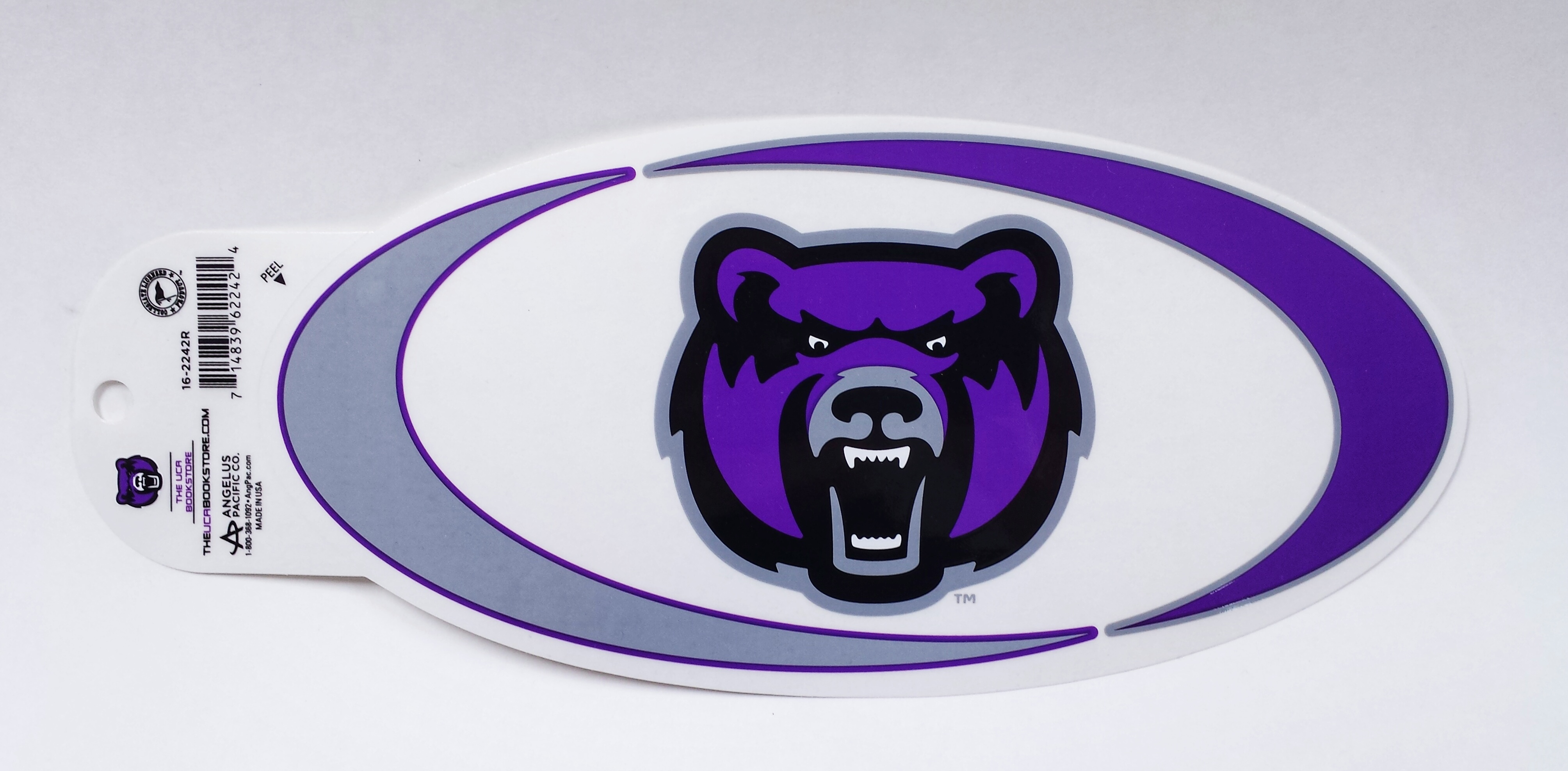 Oval Swish Bearhead Decal