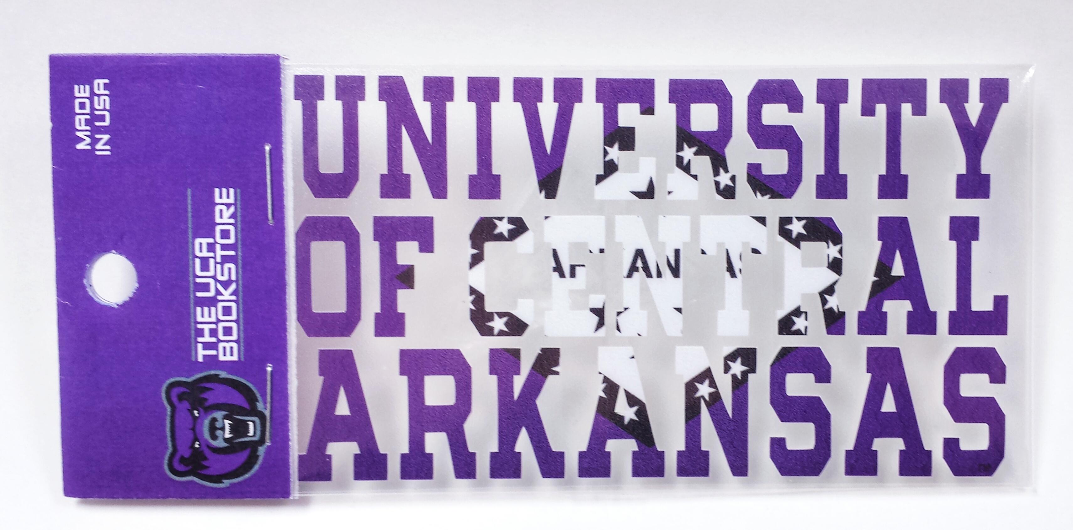 UCA Arkansas Flag Decal