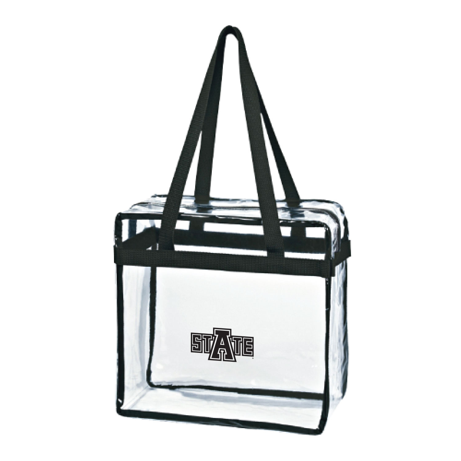 Arkansas State Clear Tote w/Zipper