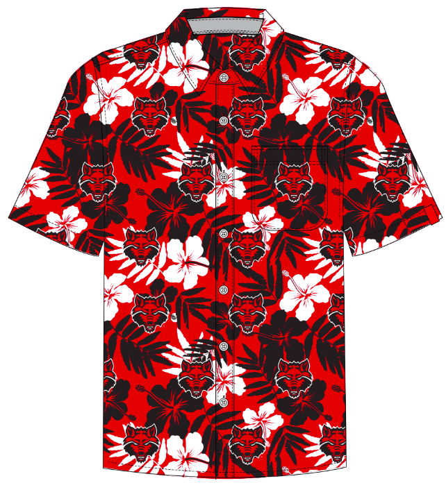 Red Wolves Hawaiian Shirt