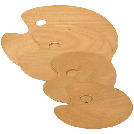 Oval Wooden Palettes